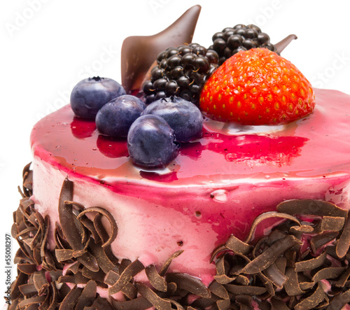 cake isolated on white background