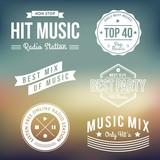 Fototapety Music Labels