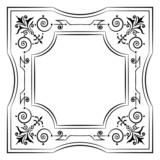 Ornate filigree frame black and white poster