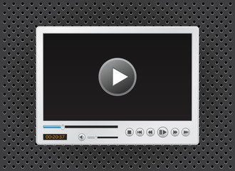 video and multimedia player icon for website