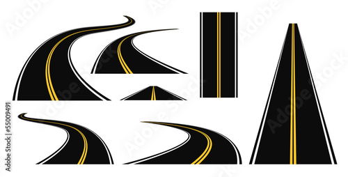 winding road set 3d