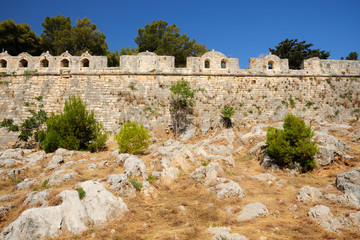 Citadel Fortezza in city of Rethymno, Crete, Greece