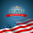 Independence day Flag of American vector illustration