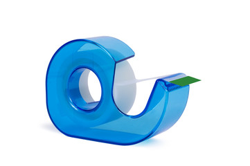 Blue Scotch Tape Dispenser Isolated