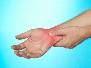Acute pain in palm of hand.