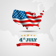 American Flag map for Independence Day. Vector