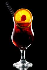 Alcohol cocktail Bacadri Cassis