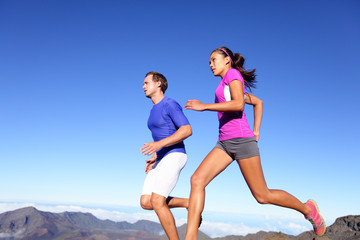 Running people - Runners training outdoor