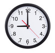 Nine hours on a clock face