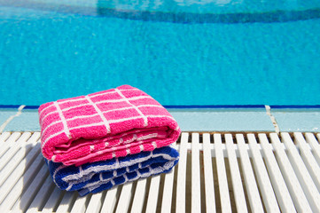 Towels  at swimming pool