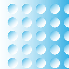 abstract blue background, the illusion of the circles