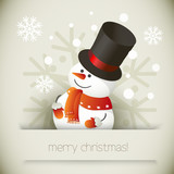 Snowman illustration for Christmas design.