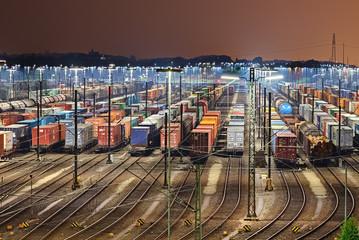 Rangierbahnhof in Maschen - Hamburg