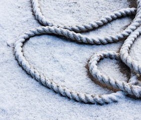 frozen ship cable