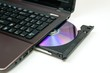 Laptop with open CD or DVD-ROM