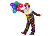 Funny clown isolated on the white