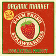 Farm fresh  strawberries poster