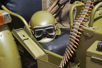 Detail of military vehicule