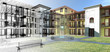 Rendering progetto, esterni, condominio, Appartamento
