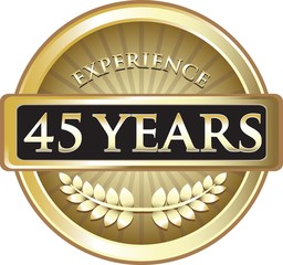 Forty Five Years Experience Pure Gold Award