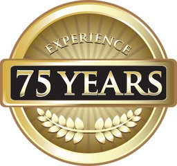 Seventy Five Years Experience Pure Gold Award