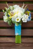 Fototapety wedding bouquet of fresh bridal flowers