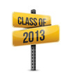 class of 2013 road sign illustration design
