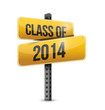 class of 2014 road sign illustration design