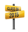 class of 2015 road sign illustration design