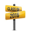 class of 2016 road sign illustration design