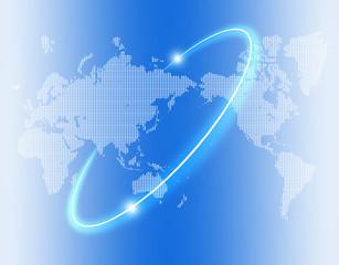 ドット世界地図ビジネス