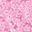 Seamless background with pink flowers. Vector illustration.