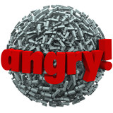 Angry Word Exclamation Points Mad Emotion Fury poster