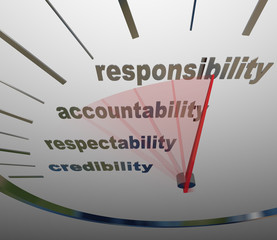 Responsibility Accountability Level Measuring Reputation Duty