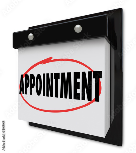 Appointment Reminder on Calendar Schedule