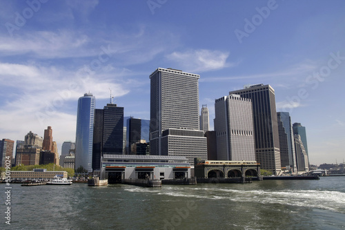 Manhattan skyline view