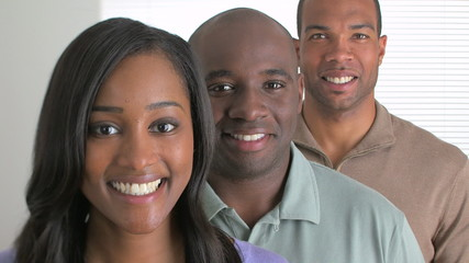 Happy African American busines team
