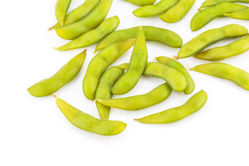 Boiled green soy beans, japanese food