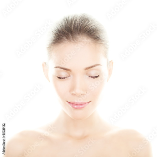 Beauty woman - perfect skin care portrait