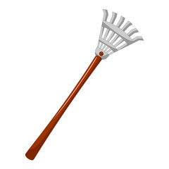 rake isolated illustration
