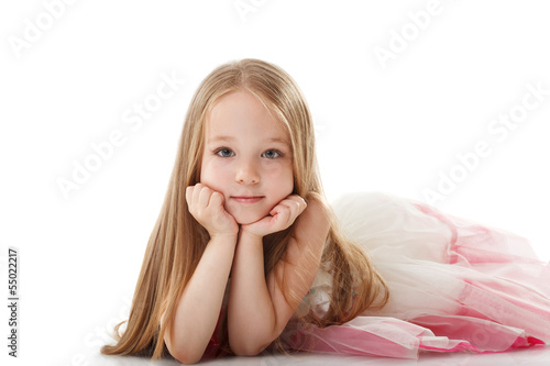 Pretty little girl posing looking at camera
