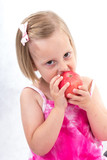kid eating fruit