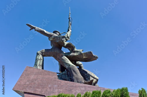 Monument to war in Sevastopol town