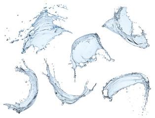 blue liquid splash isolated on white background