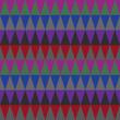 Warm hues geometric pattern