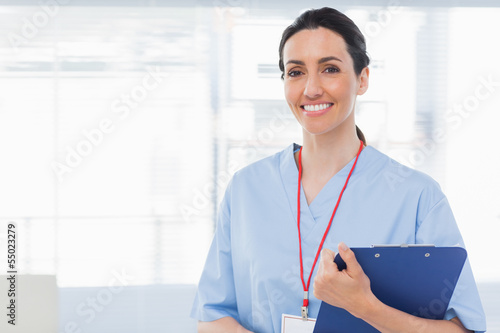 Nurse holding files