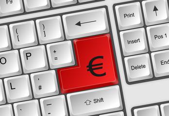Tastatur Enter Euro