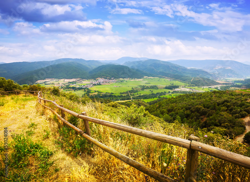 View of Pyrenees mountains valley