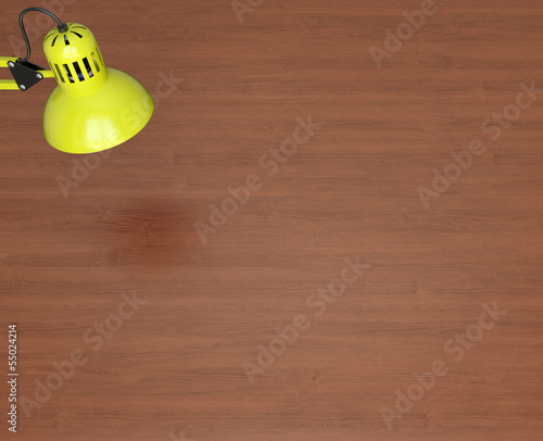 Desktop surface and lamp