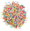 Colorful Sugar candy sprinkles isolated on white background